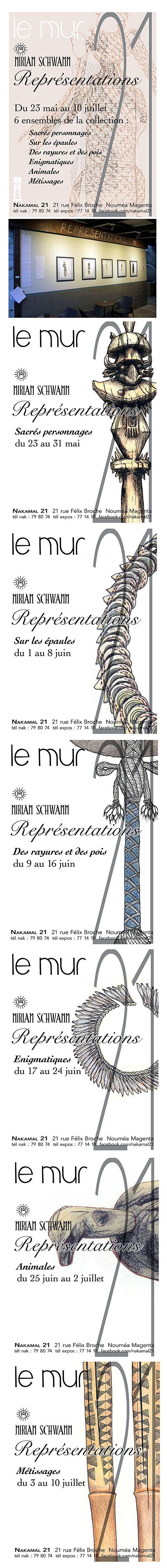 Exposition Représentations sur le mur du 21