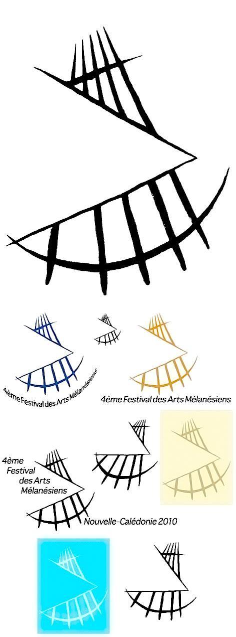 logo pour le 4ème festival des Arts de Mélanésie