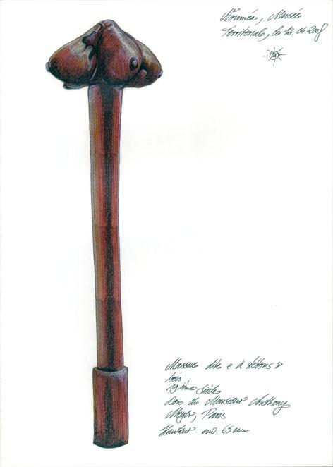Dans le musée de Nouvelle Calédonie
